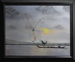 Traditional Fisherman (framed)