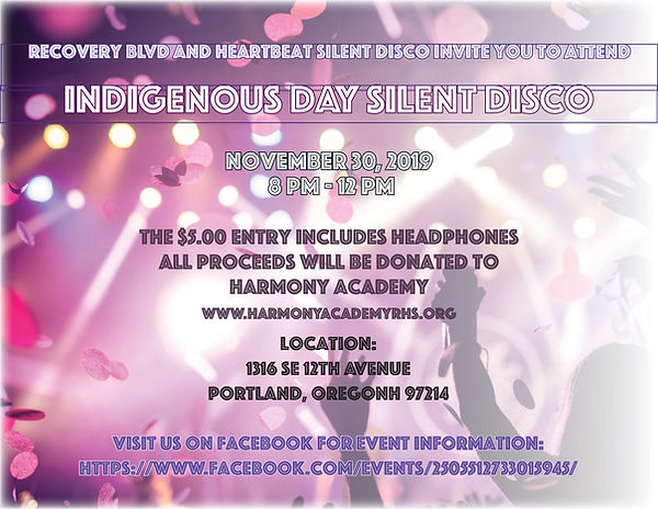 Indigenous Day Silent Disco - Recovery Blvd Treatment Center in Portland, OR