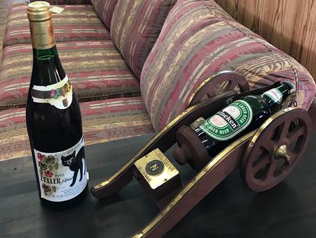 大砲型ワインホルダー