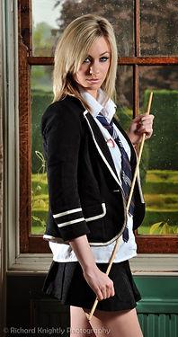 Schoolgirl, cane