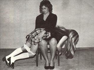 Spanking, corporal punishment, schoolgirls