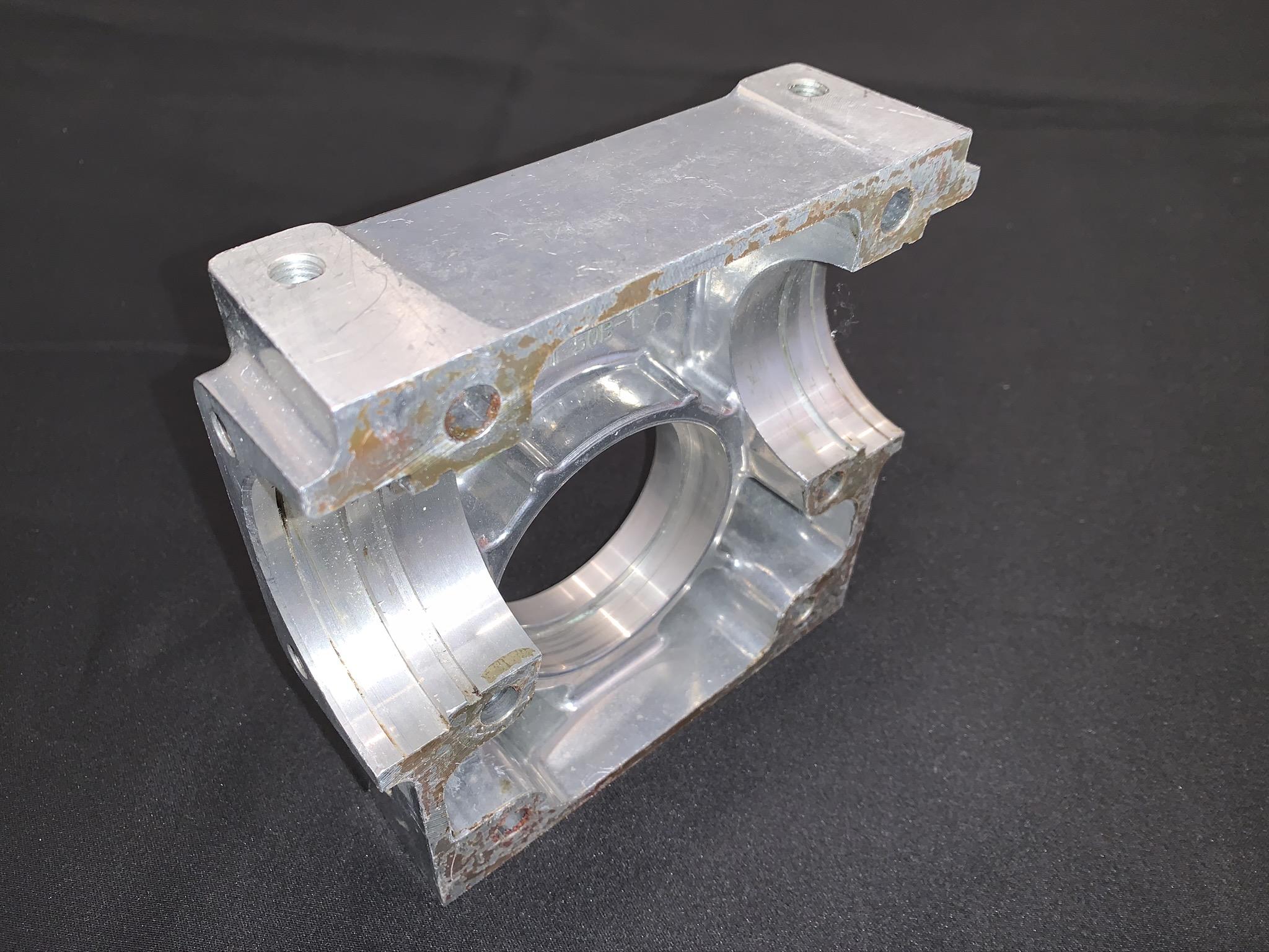 Die cast aluminum worm gear housing