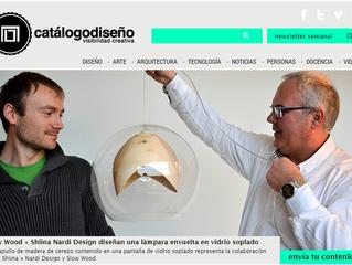 Lámpara envuelta en vidrio soplado on CATÁLOGO DISEÑO