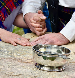 Oathing Stone, Handfasting, Quaich and Wedding