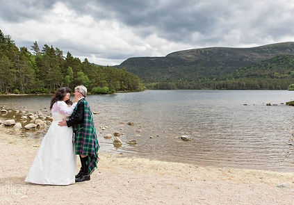 Vow Renewal and Handfasting by Loch an Eilean