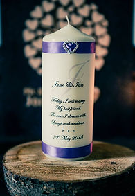 Unity candle in wedding
