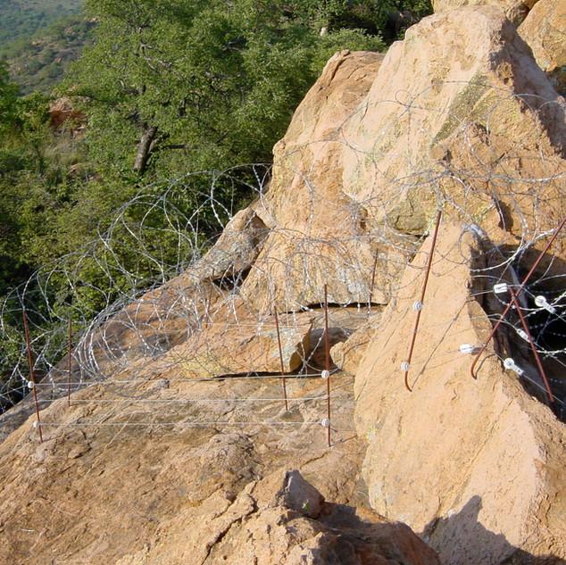 Fence over Madia Pala Mountain