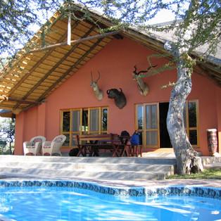 Main camp lodge and pool
