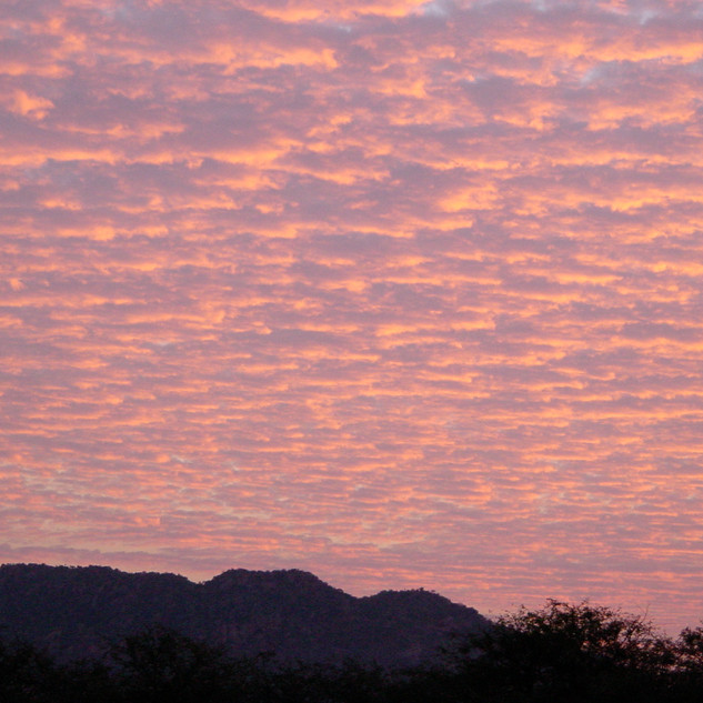 Sunset over Madia Pala Mountain
