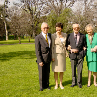 Treasury Gardens, Melbourne, after our wedding with my parents