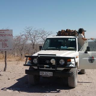 On our way to Khubu Island, Makgadikgadi Pans