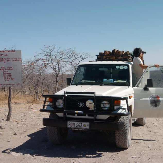 On our way to Khubu Island, Makgadikgadi Pans