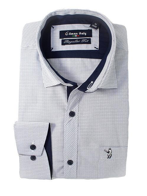 חולצה Regular fit משבצת עדינה