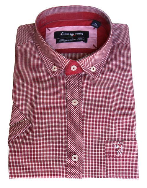 חולצה קצר REGULAR FITמשבצת עם כיס