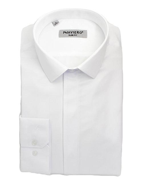 חולצה slim fit lycra לבנה