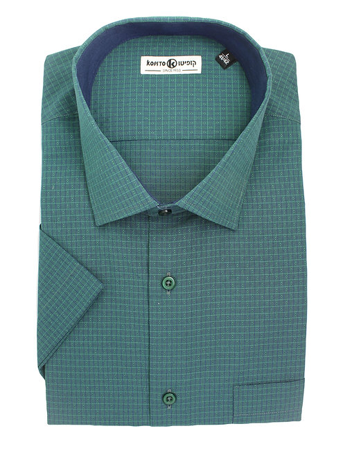 חולצה Regular fit ירוקה משבצות