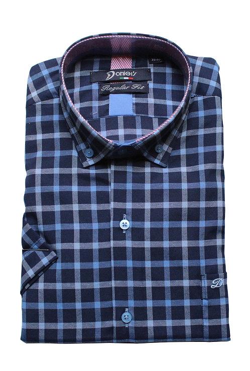 חולצה קצרה REGULAR FITמשבצת עם כיס