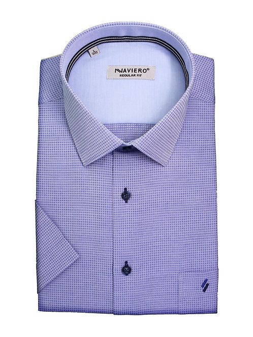 חולצה Regular fit סגולה עם משבצות