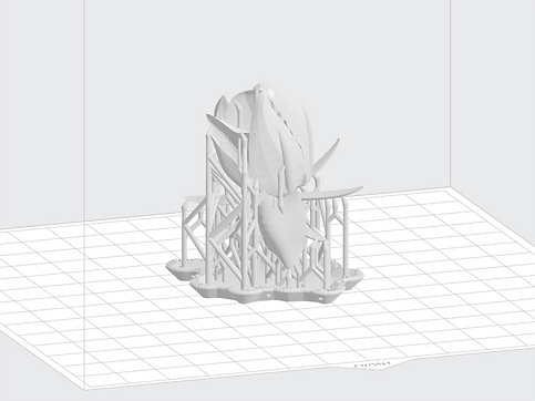 Cube 3D printer support frame generating