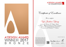Construction and Destruction Collection has won the Bronze A Design Award in 2017