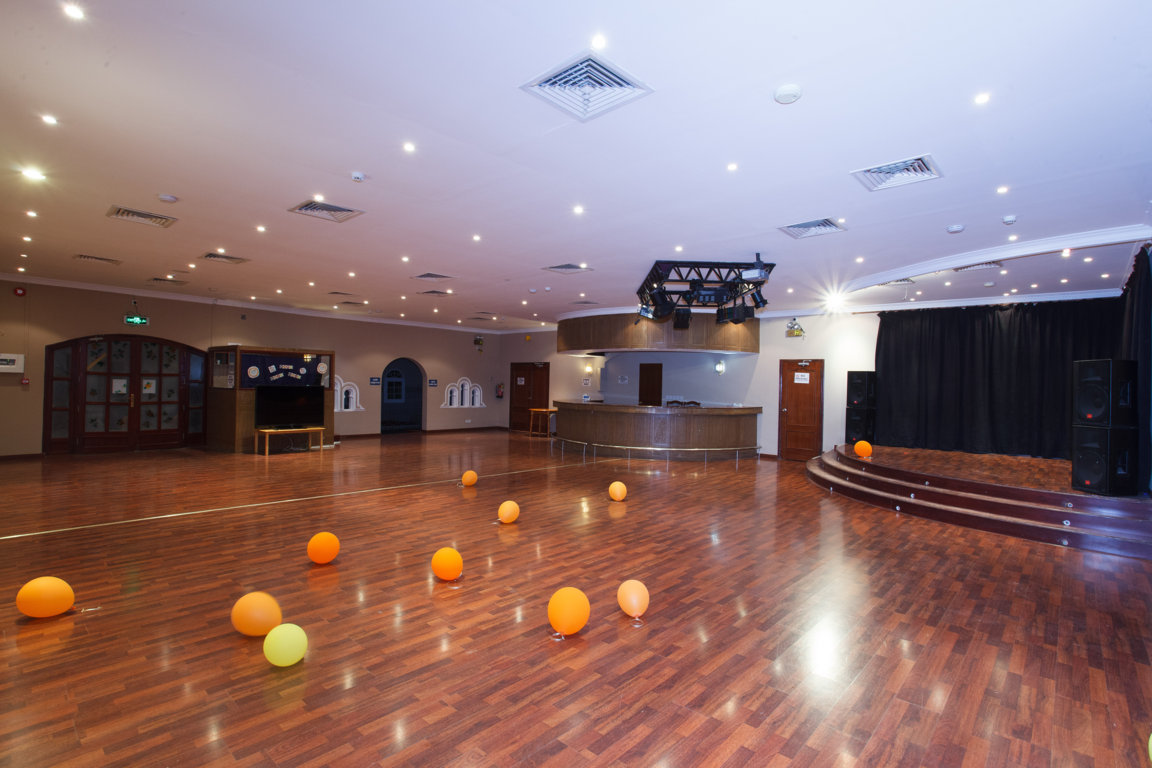 Photo of stage and dance floor at Las Dunas