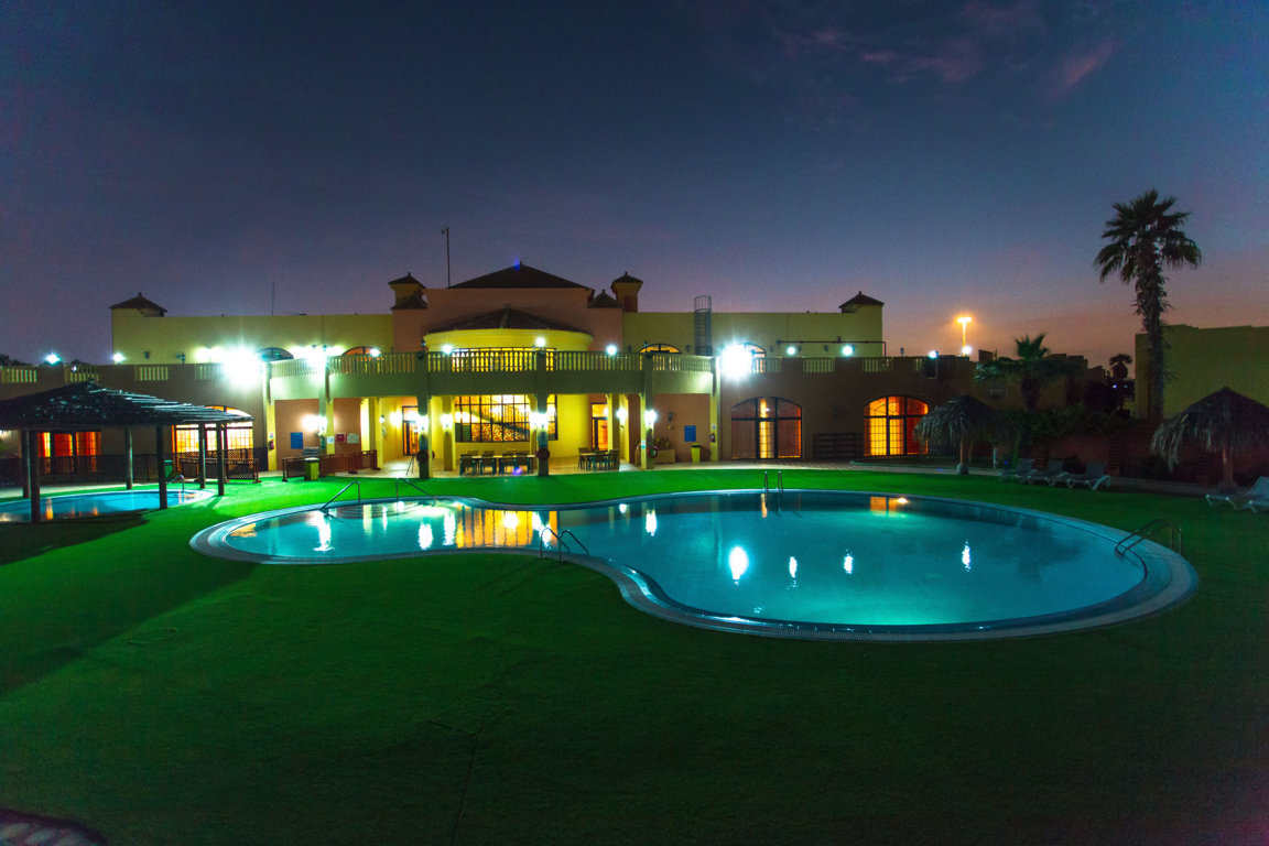 Las Dunas Resort and Pool at night