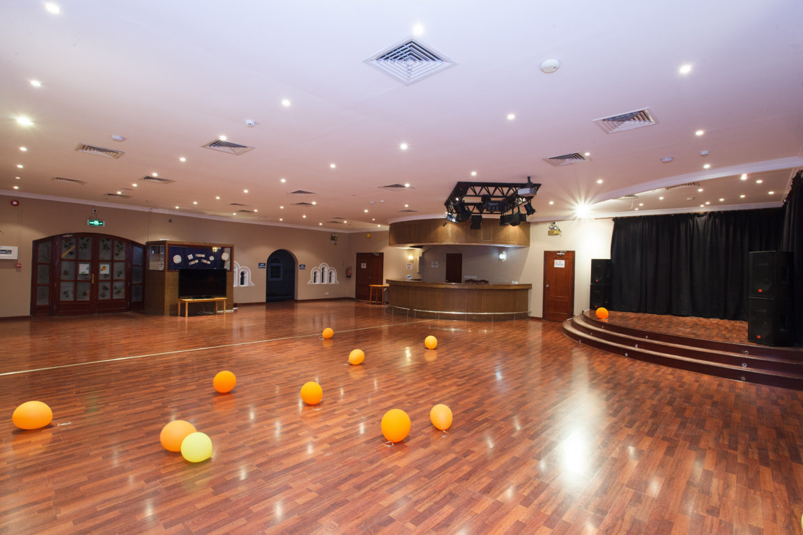 Interior shot of an event space or ballroom at Las Dunas