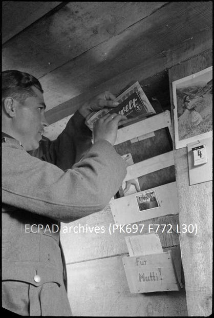 Bunker interior with magazine rack and f