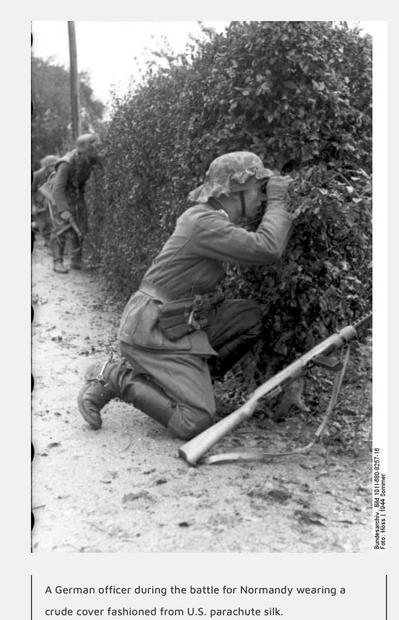 Italian--German troops in Normandy fight