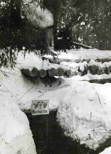 Bunker entrance with sign and stove s-l1