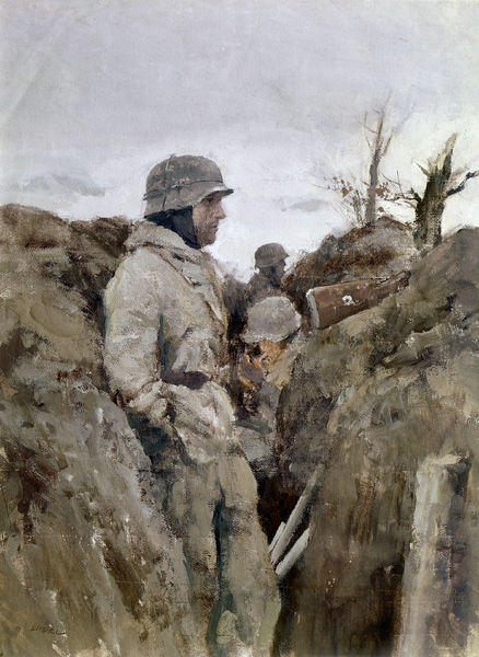 german-soldier-trench-eastern-world-war-