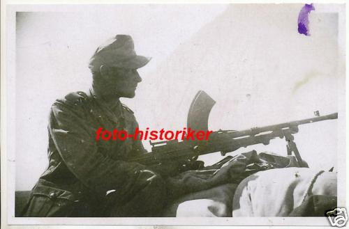 Bren--German soldier with captured Bren.