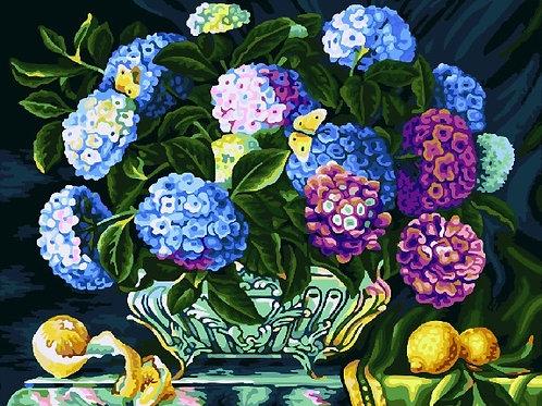 Картина по номерам 40х50 - Разноцветные бутоны