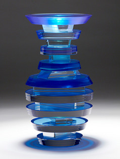 Middy Polished Laminated Plate Glass Vases
