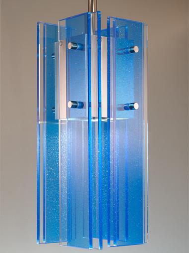 Blue Silver Hutter Pendant