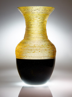 Blown Plate Glass Vase #1