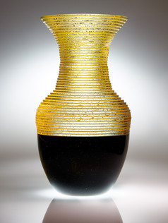 Blown Plate Glass Vase #1