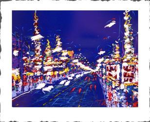 Hollywood Bloulevard in Blue