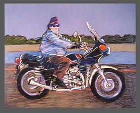 Herbert on his Harley