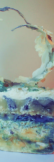 art, sculpture, mixed media, bianca patricia trevino, bianca trevino, contemporary artist, modern artist, upcoming artist, artist to watch, recycle, ice, glaciar, thegroomednomad