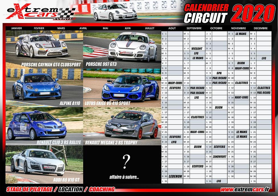 Dates de circuit 2020 - Extrem Cars