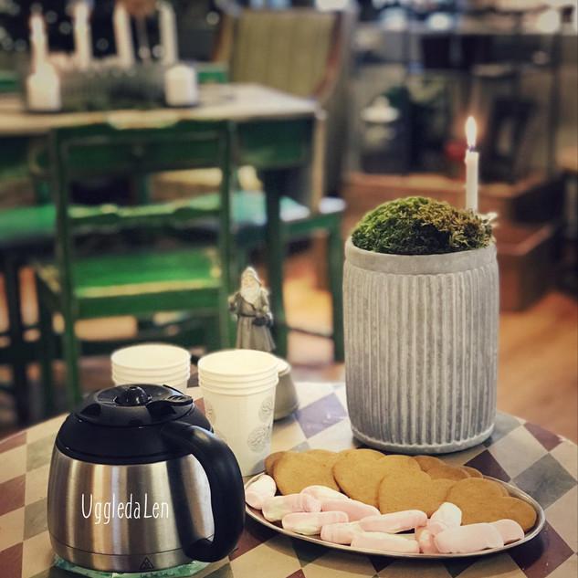 Lussekaffe i ateljén