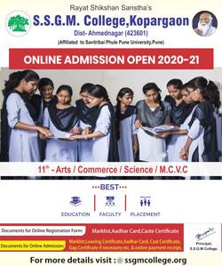 11th Junior College Admission 2020-21