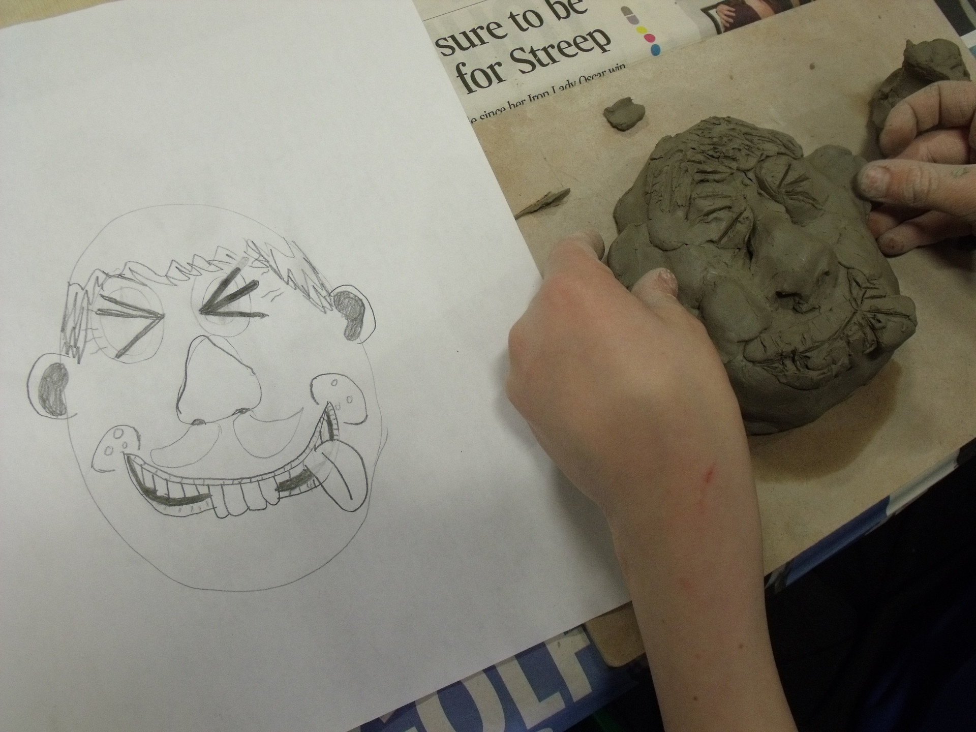 Highland Primary School clay workshops