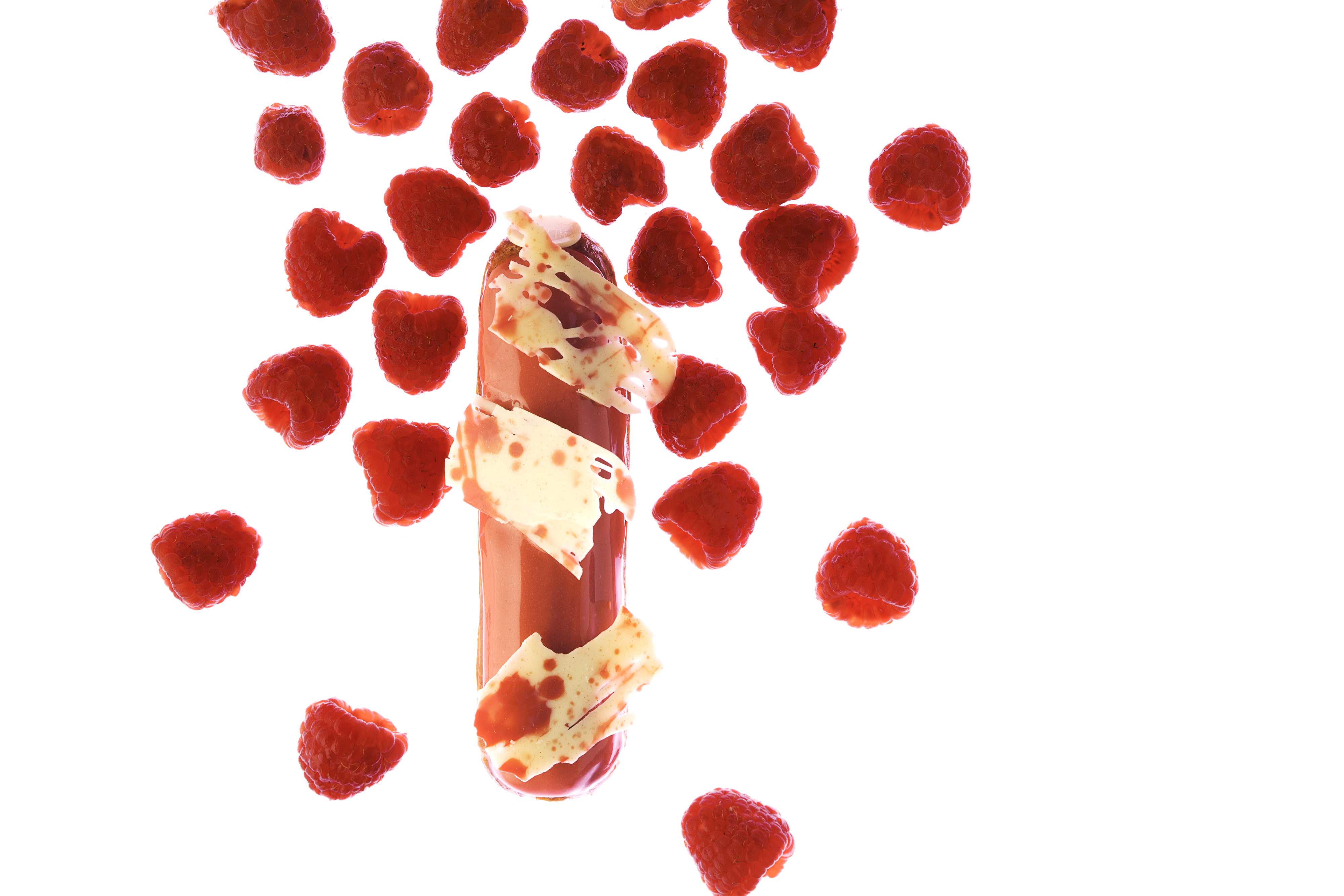 Raspberry Cream Cheese Eclair