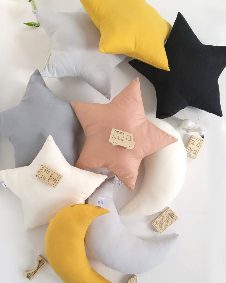 The Butter Flying - Moon and star pillows