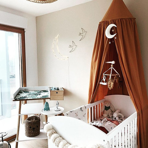 Neutral Boho Moon Mobile
