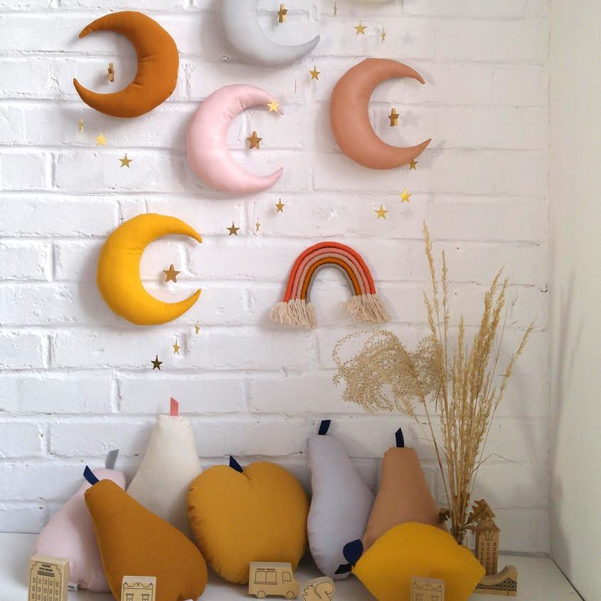 Moon Mobile- Moon Nursery Decor- Magical theme nursery- moon - space theme nursery- gold moon- baby mobile- moon nursery decor- moon phase-The Butter Flying