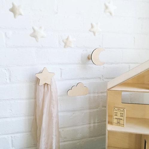 Celestial wall hooks