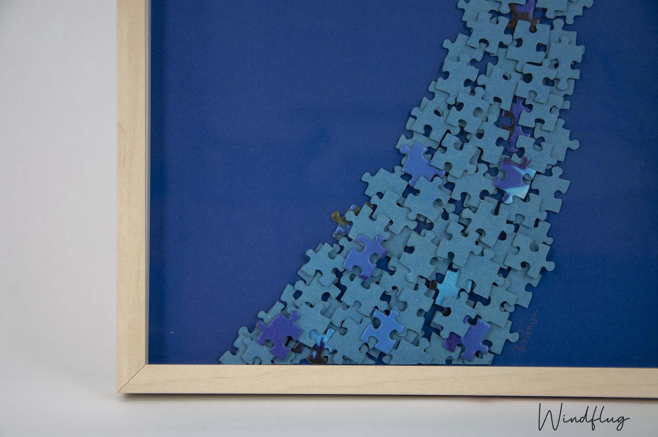 Lebenspuzzle Set blau